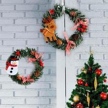 Christmas Wreath Wood Christmas Decor For Home Santa Snowman Grand Tree - $1.82