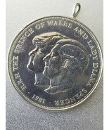 1981 H.R.H.THE PRINCE OF WALES AND LADY DIANA SPENCER 100% SILVER CROWN ... - $21.73