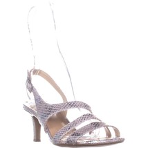 naturalizer Taimi Comfort Dress Sandals, Silver Snake, 8 US / 38 EU - $29.75