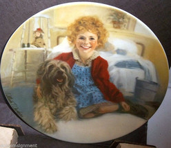 "Knowles Collector Plate Orphan Annie ""ANNIE & SANDY"" with Box & COA Liim... - $12.86"
