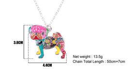 Necklaces Pendant Dog Pug Animal Zinc Alloy New Female Fashion Jewelry Accessory image 7