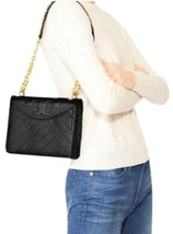 Tory Burch Women's ALEXA Combo Quilted Leather Crossbody Bag, Black, 8983-6 image 1