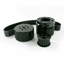 Ford BB Big Block 429-460 Gilmer Style Pulley Kit (BLACK)
