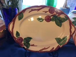Vintage FRANCISCAN Red APPLE Oval Serving Platter Plate California 10x14... - $23.01