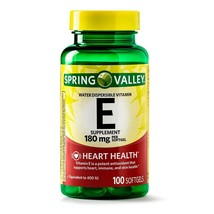 Spring Valley Vitamin E Softgels, 400 IU, 100 CounT. - $15.83