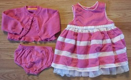 Girl's Size 6-9 Months 3 Piece Pink & White Children's Place Dress, DC &... - $25.00
