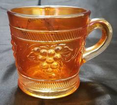 VINTAGE BANDED MARIGOLD MUG BY DUGAN GLASS - $6.25