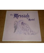 The Messiah By Handel Red Vinyl Phonograph Record Album SDA Santa Ana Ca... - $34.99
