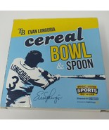 Evan Longoria Cereal Bowl and Spoon Set Tampa Bay Devil Rays - $12.16