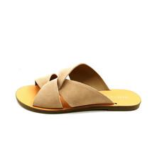 Marc Fisher Womens Bomie Flat Slide Sandal Suede Medium Brown Sz 8M  - $34.64