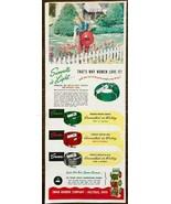 1951 Swan Rubber Co Bucyrus OH Garden Hoses Print Ad Light Women Love It - $11.69