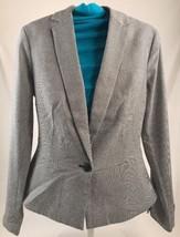 New Banana Republic Womens Blazer 1 Button Black / White Houndstooth Siz... - $49.50
