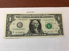 United States $1.00 banknote 2013  #3 - $4.95