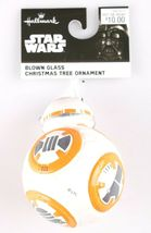 Disney Star Wars BB-8 BB8 Last Jedi Hallmark Blown Glass Christmas Xmas Ornament image 3