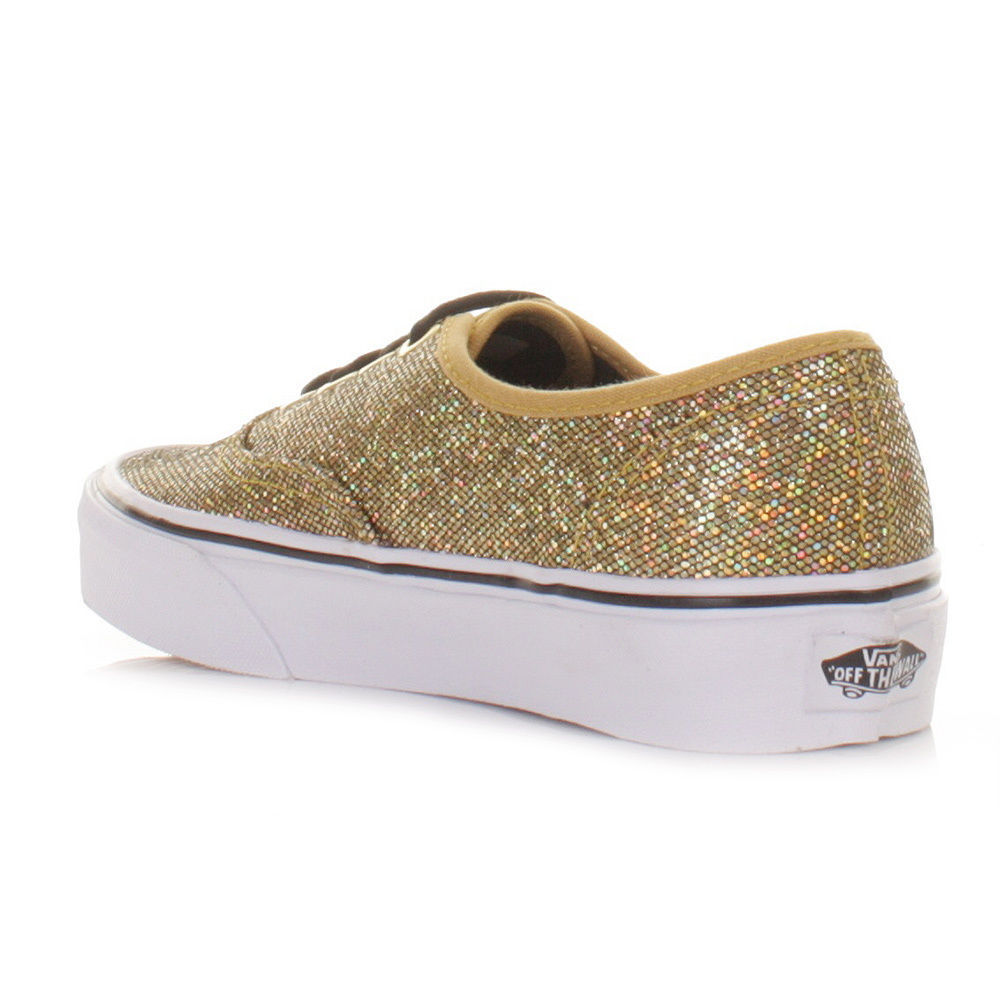 6d1584222831 VANS AUTHENTIC GLITTER GOLD MICRO DOTS SHOES MENS 3.5 WOMENS SZ 5 21.5CM  NEW ERA