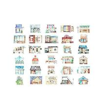 Post Cards Cartoon House Shape Greeting Cards Set of 30 - £11.83 GBP