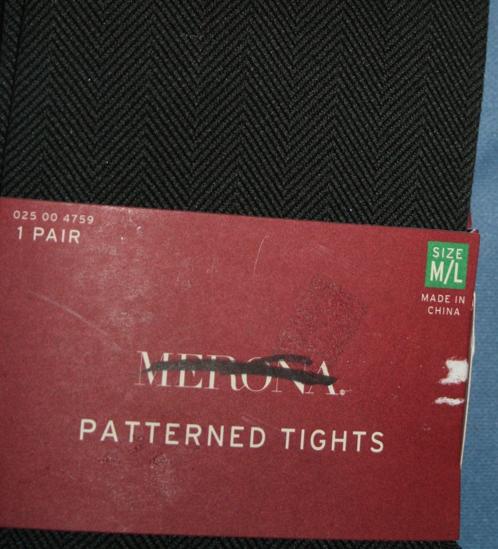 a5d5c5cf2 Tights NIP Womens Sz M   L Clairs Merona Patterned New Stockings