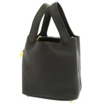 HERMES Picotin Lock PM Taurillon Clemence Noir Gold HW Handbag #D France - $3,951.95