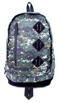 FLUD OG 8-Bit ARMY CAMOUFLAGE BACKPACK BOOK LAPTOP SCHOOL BAG NEW