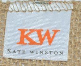 Kate Winston Brand Brown Burlap Monogram Black And White L Garden Flag image 4