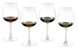 Tulip Wine Glass Goblets with Multi Metallic 26 oz. Accent Finish 9.5 In... - $27.83