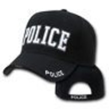 Police White Letters Embroidered Black Hat Cap - $31.58
