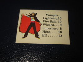 1980 TSR D&D: Dungeon Board Game Piece: Monster 6th Level - Vampire - $1.00