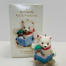 Hallmark Keepsake Ornament It's Snow Time Snow Ball And Tuxedo 2006 - $8.59