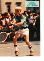 Ricky Schroder teen magazine pinup clipping playing tennis white shorts