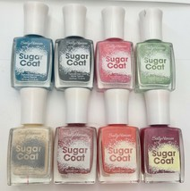 Lot of 8: New SALLY HANSEN Sugar Coat Nail Polish Texture 3D - No Repeats! - $27.71
