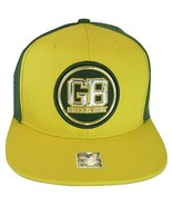 Green Bay Men's Patch Style Breathable Snapback Baseball Cap (Gold/Green) - $13.95