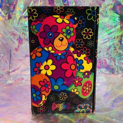 GREAT Vintage Lisa Frank Blossom Bear Tri Fold Agenda COMPLETE STICKERS