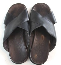 Timberland Sandals Men's size 10.5M Leather Slip On Black & Brown - $38.63 CAD