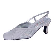 FLORAL Joy Women Wide Width Pointed Toe Mesh Satin Upper Slingback Shoes  - $35.95