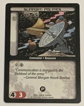 Battletech TCG Support Politics 1996 Wizards of the Coast CCG Trading Card Game - $3.95