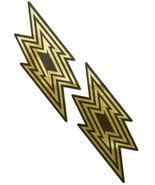 Liquid Black and Gold Lightning Bolt Nipple Pasties - $10.88