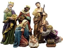 Catholic Brands Resin Holy Family with Wise Men Church Size Nativity Scene Set,