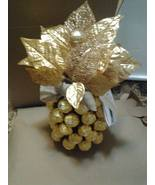 Ferrero Rocher Pinepple in Gold with Champagne Edible Gift - $89.99+