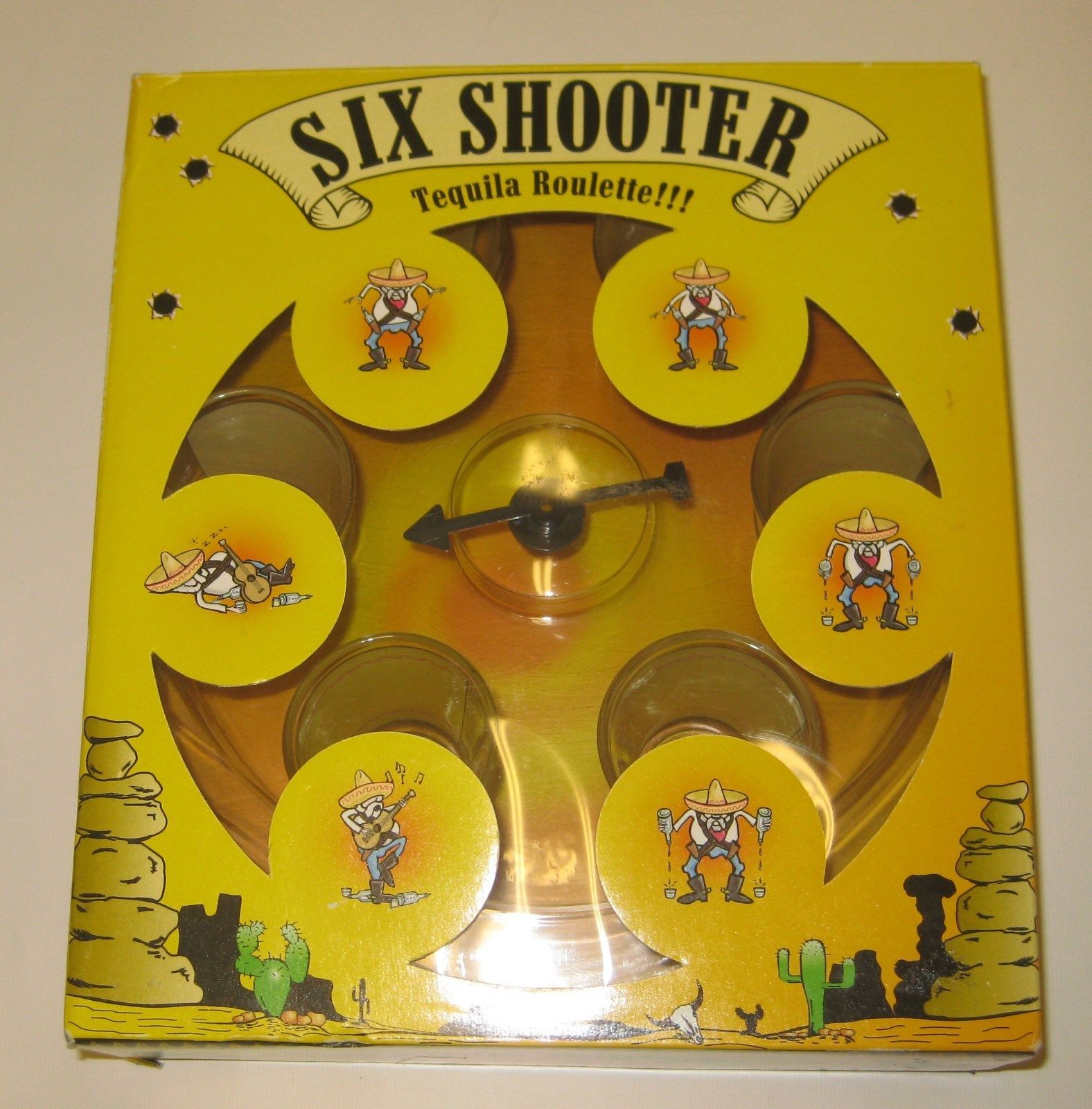 Primary image for Drinking Game  - Six Shooter Tequila Roulette game - New