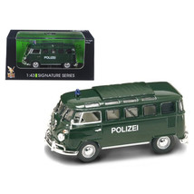 1962 Volkswagen Microbus Police Green 1/43 Diecast Car Model by Road Sig... - $23.26