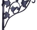 Wall Shelf Bracket Brace With Plant Hanger Flower Basket Hook