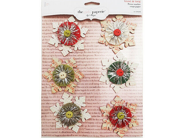 """The Girls' Paperie Dimensional Chipboard """"Tinsel & Twig"""" Snowflake Stickers"""