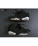 Nike Air Jordan Retro 6 Low Chrome Black Silver 768881-003 Size 6.5Y Kid... - $74.24