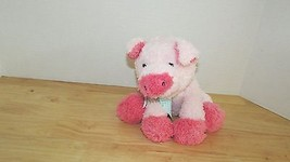 Melissa & Doug plush pink pig green gingham bow Princess soft toys baby toy - $7.97