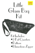 Little Glam Bag Kit - Black Zippered Cosmetic Bag Purse Pencil Pouch Kit... - $19.97