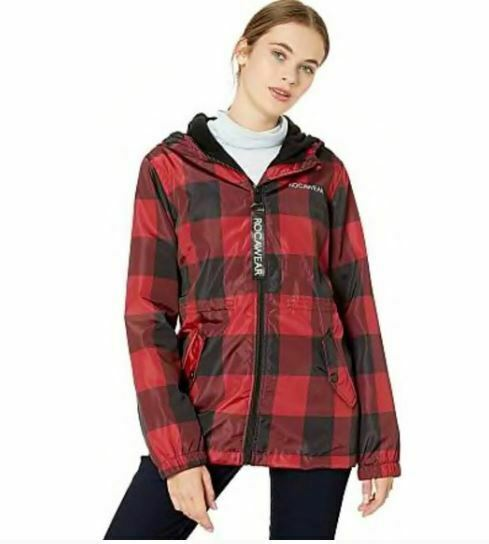 Rocawear Women's Black & Red Plaid Hooded Jacket Sz XL -NEW WITH TAGS- STORE