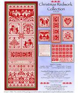 Christmas Redwork JE239 christmas cross stitch chart Joan Elliott Designs - $18.00