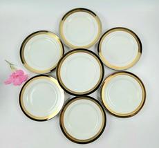 Vintage Fitz & Floyd Platine D'Or Pattern Salad Plates -Set of 11- Made ... - $120.00