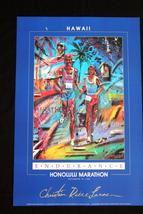 Honolulu Marathon Christian Riese Lassen print Hawaii, vintage code: CRL... - $44.99