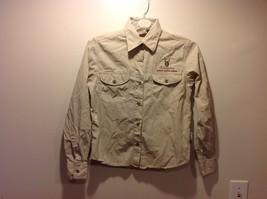 Mens Senqu Riverwear Singita South Africa Safari Khaki Button Up Shirt Sz L